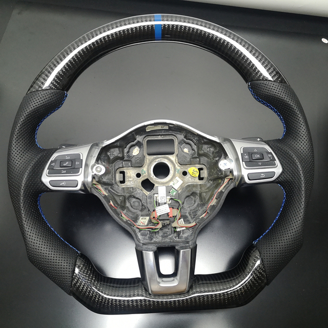 Customized Carbon Steering Wheel Replacement FIT For VW Golf 6 GTI GTD R MK6 Jetta GLI Scirocco GTS 2.0T 2008 2013