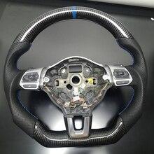 מותאם אישית פחמן הגה החלפת FIT עבור פולקסווגן גולף 6 GTI GTD R MK6 ג טה GLI Scirocco GTS 2.0T 2008 2013