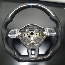 Özelleştirilmiş karbon direksiyon yedek FIT VW Golf 6 GTI GTD R MK6 Jetta GLI Scirocco GTS 2.0T 2008 2013