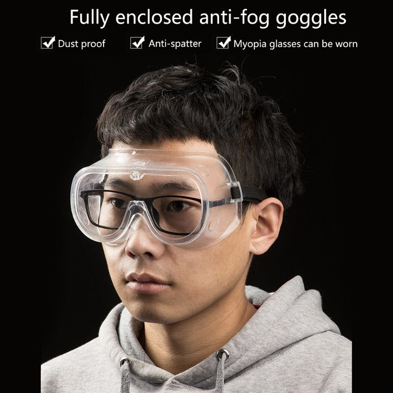 Clear Goggles Anti Saliva Sneeze Chemical Splash Impact Resistant Fully Enclosed Safety Goggle Anti-Fog Portable