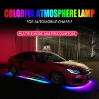 Niscarada-Luz LED RGB Multicolor Flexible para coche, iluminación de Ambiente de neón, impermeable, para automóvil Chassi