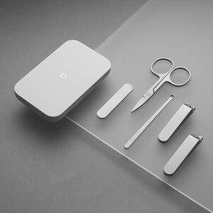 Image 4 - XIAOMI Juego de cortauñas MIJIA, 5 uds., manicura y pedicura, inoxidable, con caja de almacenamiento