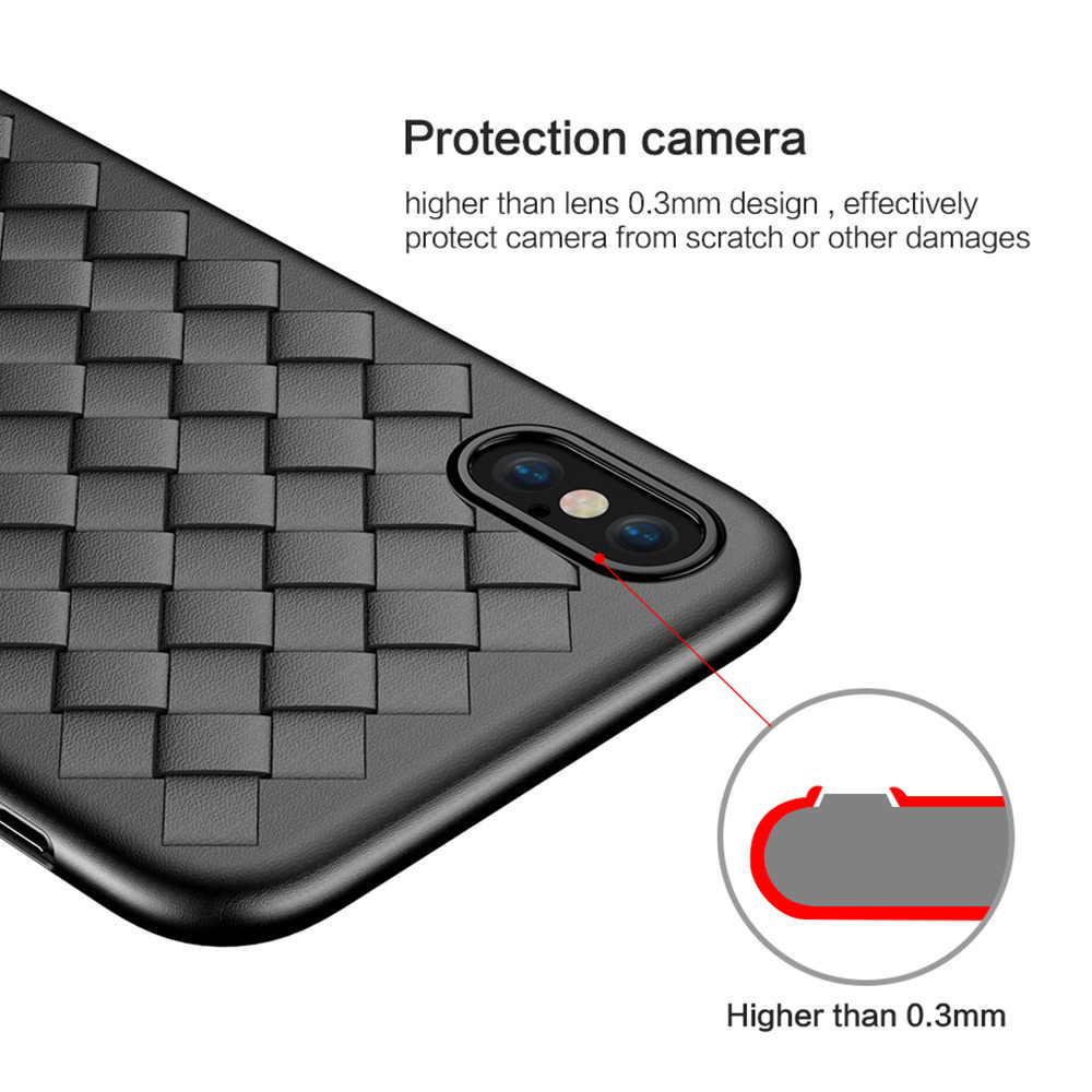 FLOVEME Sang Trọng Dệt Ốp Lưng Cho Xiaomi Mi CC9 9 8 SE A2 Lite Mi 9T Redmi K20 Pro redmi Note 7 8 Pro Silicone Lưới Ốp Lưng Điện Thoại