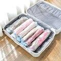10 шт  вакуумные дорожные пакеты для хранения  многоразовые упаковочные мешки  без вакуумного насоса  экономят 80% места для багажа
