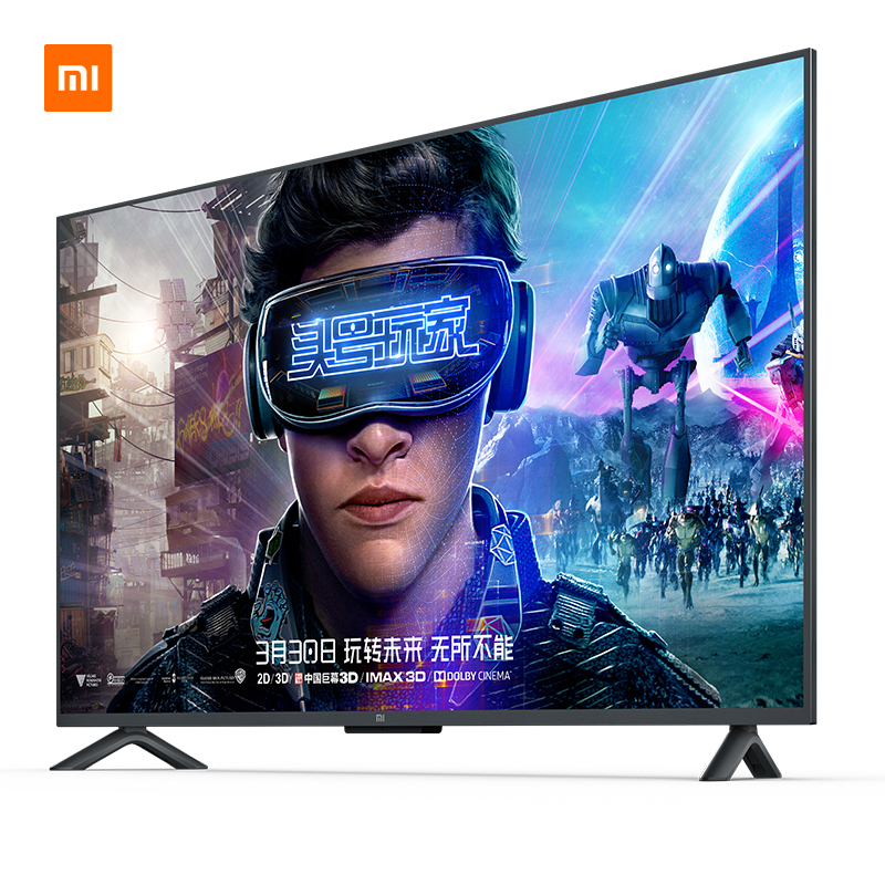 TV Xiao mi TV Android Smart TV 4S 55 pouces écran 4K HDR complet TV ensemble WIFI Ultra-mince 2GB + 8GB Dolby | support mural cadeau - 2