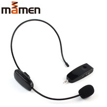 Mamen 2.4G 50m Wireless Headset Microphone&Loudspeaker MIC Voice Amplifier For Teaching Conference Recording Computers цена и фото