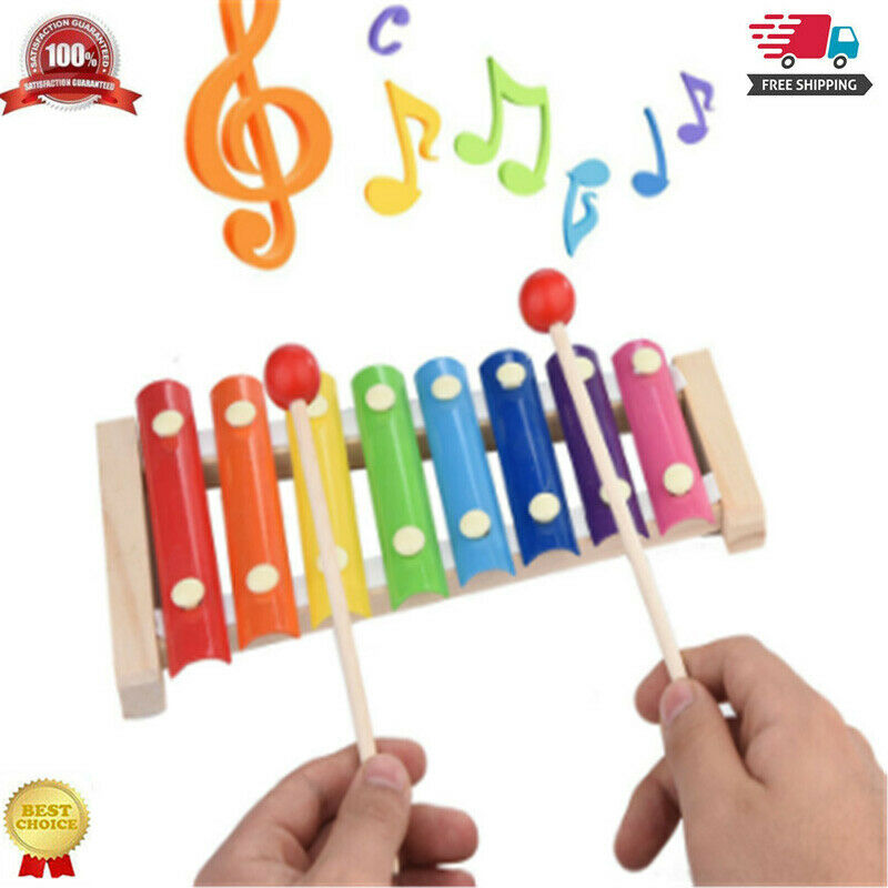 1Pc Kid Baby 8-Note Xylophone Musical Instrument Toy Wisdom Development Child