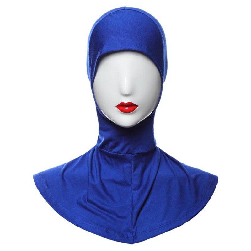 Muslim Women Plain Elasticity Cotton Hijab Hat Neck Full Cover Islamic Bonnet Hijab Muslim Head Scarf Underscarf