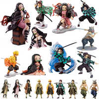 Agatsuma Zenitsu Kamado Nezuko Tanjirou Dämon Slayer Kimetsu keine Yaiba Anime PVC Action-figuren spielzeug Anime figur Spielzeug Für geschenke