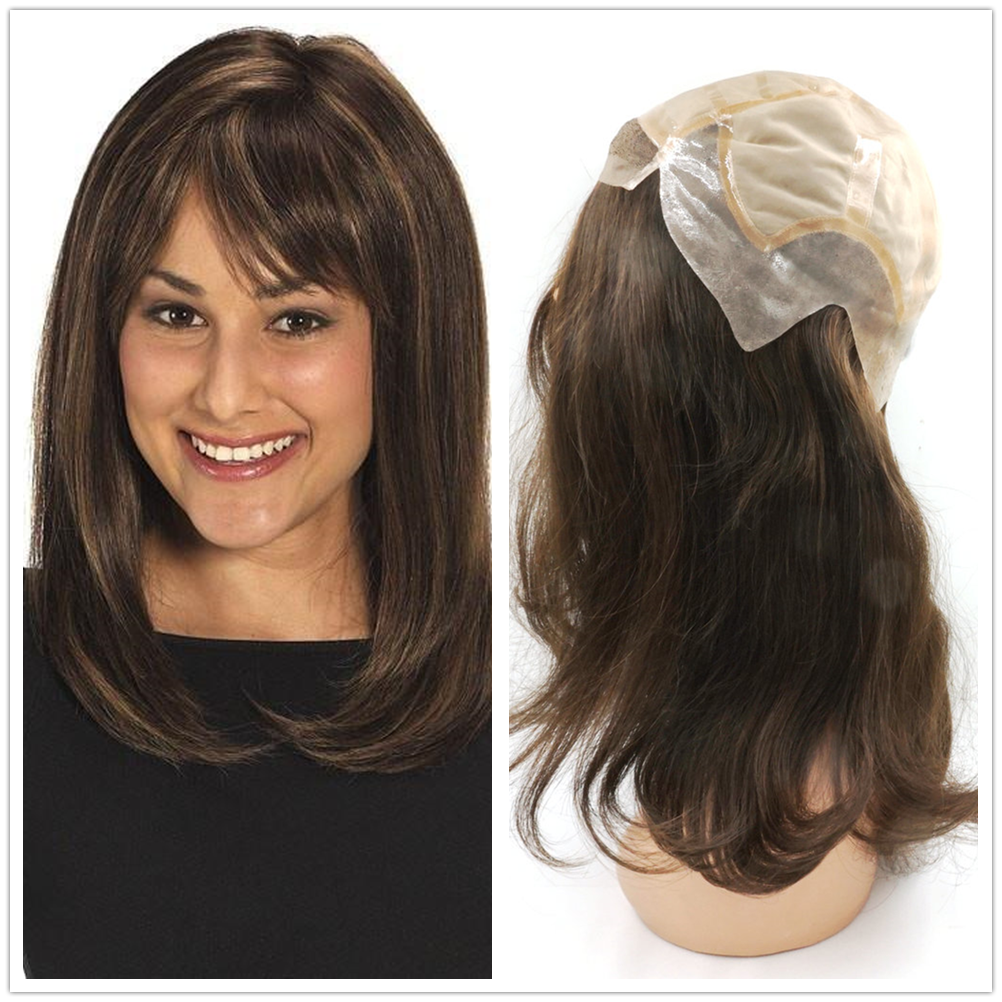 Hstonir Jewish Kosher European Hair Wigs 15 Inch Classic Human Remy Hair Wigs Silk Top In Stock G030