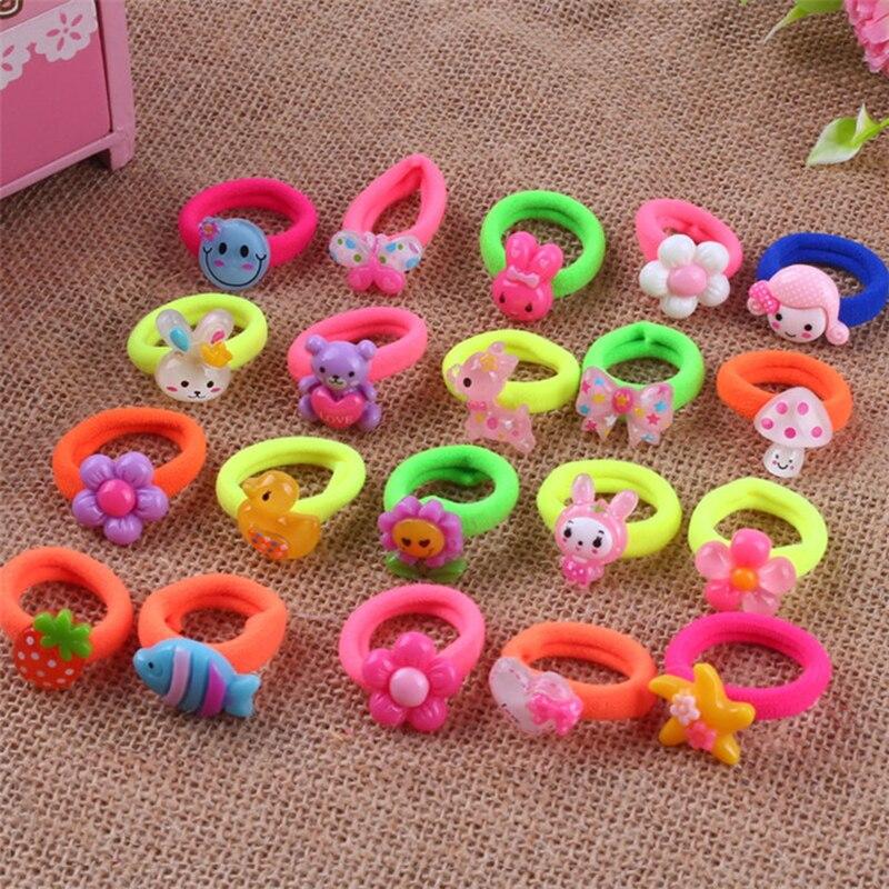Cordas de cabelo elásticas para meninas 20 pçs/set, acessório para cabelo de bebê menina presente