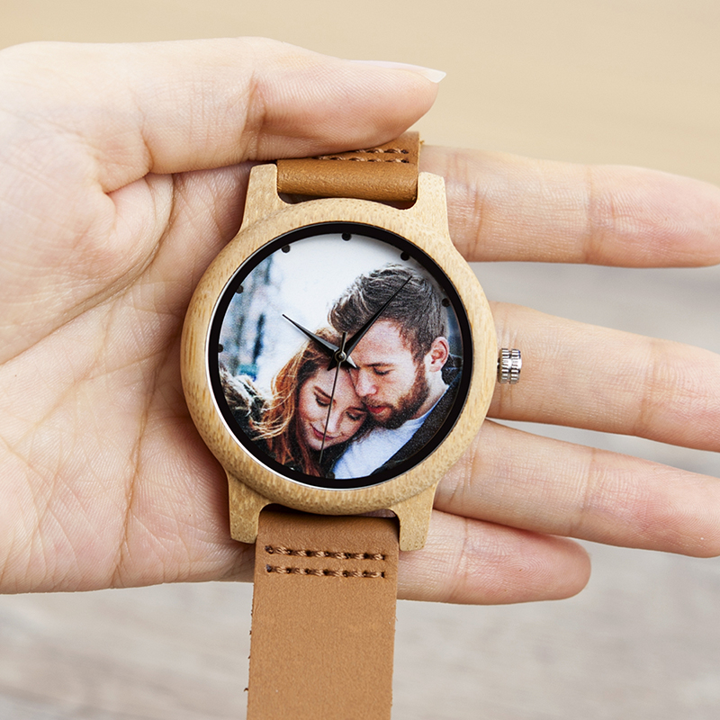 Image 3 - BOBO BIRD Couples Wood Watch Personal Photo Printing Wristwatch Picture Print Customized Clock Unique DIY Gift For Friend/LoverLovers Watches   -