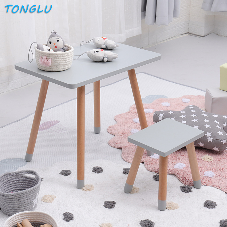 Learning Desk Kids Room Baby Play Writing Table And Chair Solid Wood Children's Desk And Chair Kids Furniture Dining Table