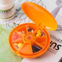 Tygodniowe obrotowe opakowanie na tabletki Splitter przechowywanie tabletu organizator medycyna 7 dni pojemnik na pigułki do podróży