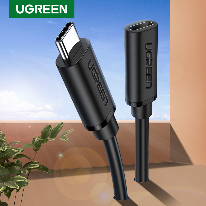 UGREEN USB C Extension Cable Male To Female Type C Extender Cord Thunderbolt 3 Compatible Suitable For Nintendo Switch MacBook