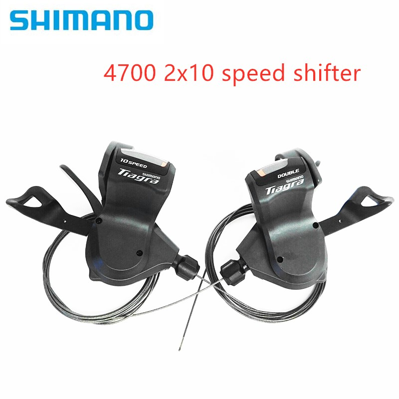 SHIMANO Tiagra 4700 <font><b>2x10</b></font> Speed Shift Lever One Pair Left/Right SL 4700 Shift Lever Derailleurs <font><b>2x10</b></font> Speed image