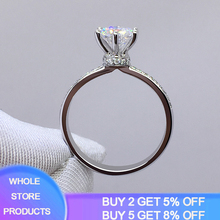 YANHUI Fine Jewelry 1 Carat Lab Diamond Rings For Women Party Elegant Bridal Jewelry 925 Silver Wedding Engagement Rings XR050 yanhui silver 925 jewelry eternity 1 carat lab diamond wedding rings luxury original 925 silver rings gift for women jz068