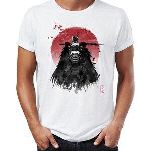 Мужская футболка в стиле хип-хоп, Бэтмен, ниндзя, Самурай под солнцем, юмористический аниме Badass Street Guys, Топы И Футболки Swag, 100% хлопок, Camiseta