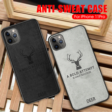 Premium Soft TPU edge Phone Case For iPhone 11 Pro Max 2019 Cloth Texture 3D Embossed Deer Case For iphone 11pro 2019 11 cover