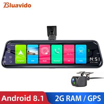 "Bluavido 10"" 4G Android 8.1 Dashcam GPS Navigation ADAS Car Rearview mirror Camera Full HD 1080P Car Video Recorder DVR WiFi BT"