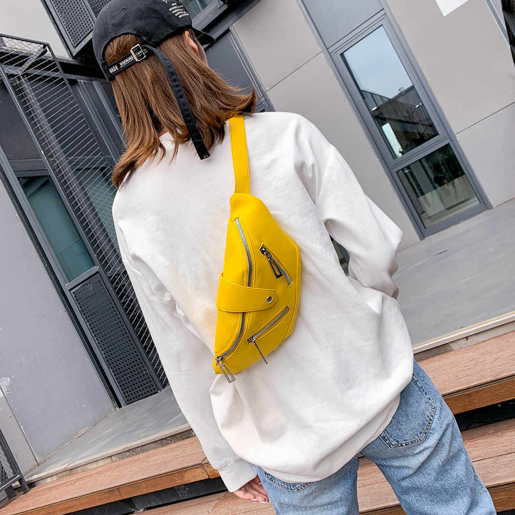 Zipper Design Fashion Women Handbag Leather Women's Crossbody Messenger Bags Ladies Purse Female Chest Pocket Shoulder Bag