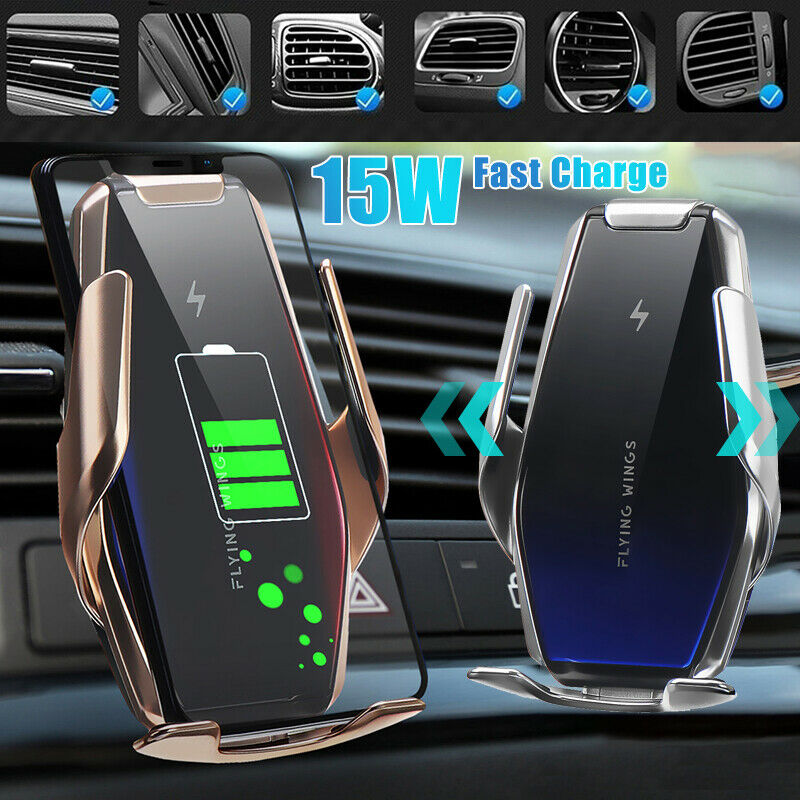 15W Fast Car Phone Holder Wireless Charger For iPhone 11 Pro XS Max XR X For Samsung S10 S9 Note 10 9 QI Wireless Car Charger Wireless Chargers     - title=