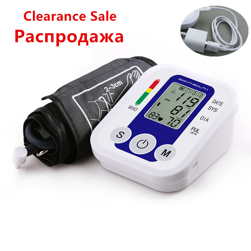 Big Clearance Sale Ship From RU Arm Blood Pressure Monitor Digital Portable Blood Pressure Monitor Meters Sphygmomanometer