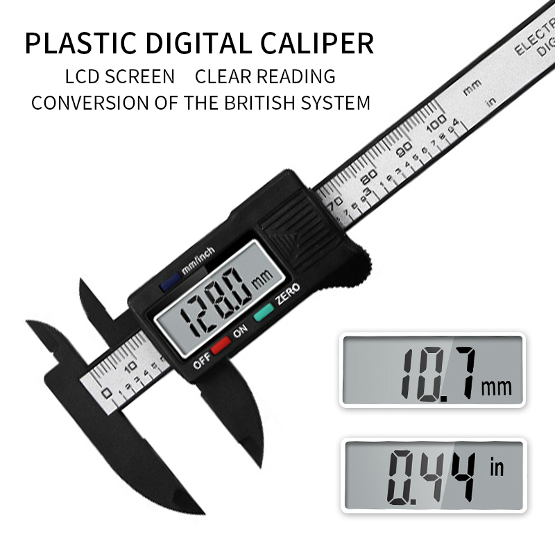 2020 New Arrival 0-150mm Digital Vernier Caliper Inch And Millimeter Conversion Measuring Tool With Lcd Electronic Screen Drip-Dry