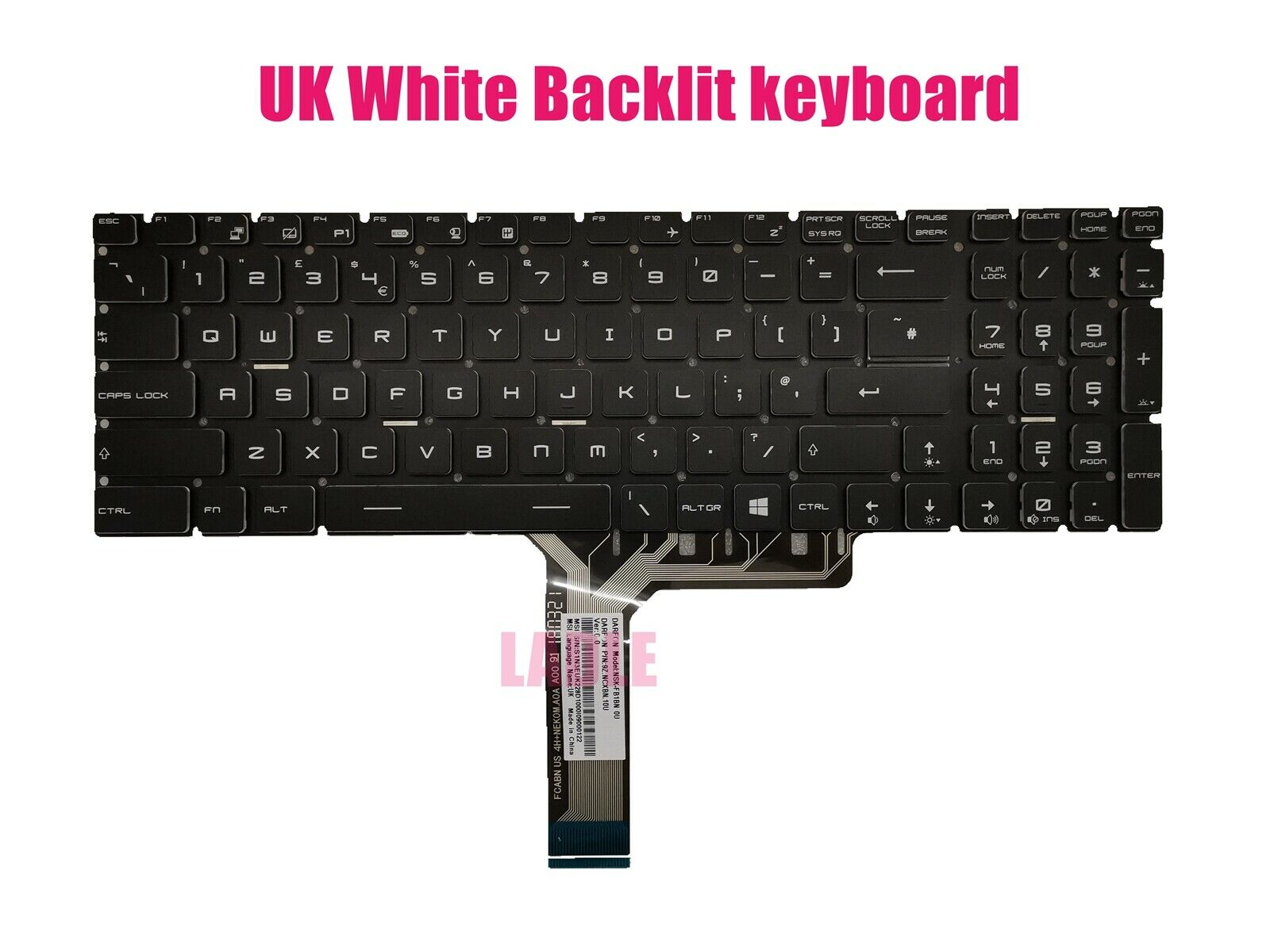 For MSI GP72 7REX GP72M 7RDX GP72M 7REX keyboard Color backlit German Tastatur
