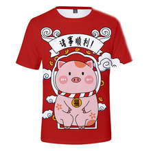 Cartoon pig 3D  Printing Children t-shirt  Boys T Shirt kids t shirt Autumn Kids Girls Tops 3-14Years Children Clothes kids t shirt funny boys clothes cartoon game print t shirt costume boys t shirt girls summer kids clothes t shirt children shirt