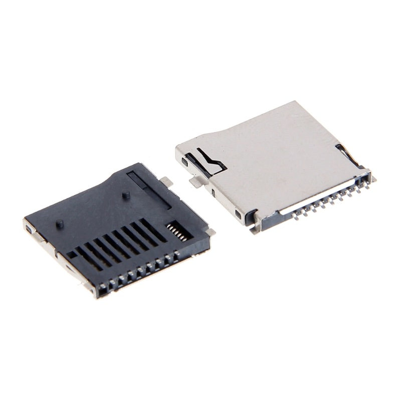 10PCS Push-Push Type TF Micro SD Card Socket Adapter Automatic PCB Connector