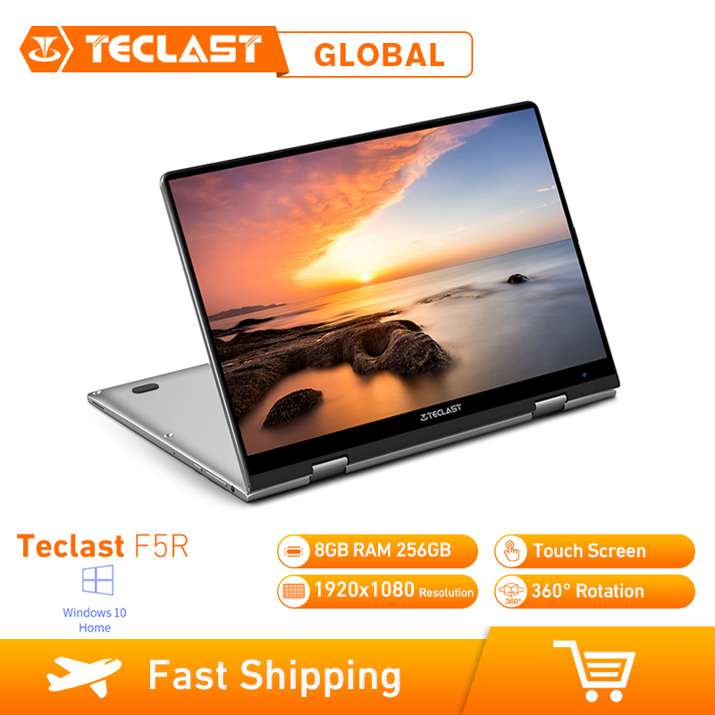 Teclast F5R Laptop 8GB RAM 256GB Windows 10 OS 11.6 Inch Intel APOLLO LAKE N3450 Quad Core 1.1GHz CPU SSD Touch Screen HDMI