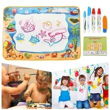 100*70 Doodle Mat with Play Pen EVA Rubber Crafts Magic Water Drawing Aqua Mat Arts Kids Crafts Educational Toys for Boys