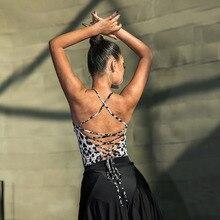 Dance-Dress Tops Ballroom Dancing Latin Tango Performamnce Sexy Women Tee New Chacha