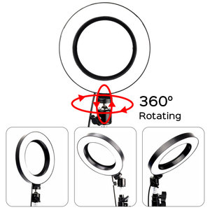Image 4 - Professionele 6 Inch Led Ring Licht Photo Studio Camera Licht Fotografie Kit Make Video Selfie Vullen Lamp Met Statief
