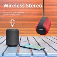 Tronsmart t6 mini alto-falante portátil sem fio de bluetooth tws alto-falantes com ipx6, assistente de voz, 24 horas de tempo de jogo