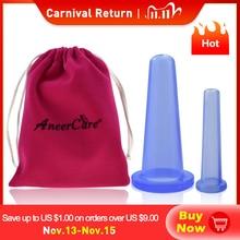 2 pcs vaso di lattine di massaggio per il massaggio del viso ventosa celulitis ventosa ventose massaggio viso lattine anti cellulite