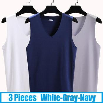 Αμάνικη ανδρική μπλούζα γυμναστικής σε σετ των 3