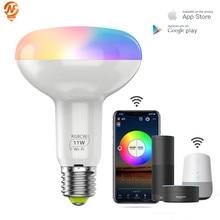 WiFi Smart Light Bulb 11W E27 Dimmable LED Lamp App Operate Alexa Google Assistant Control Wake up Smart Lamp Night Light