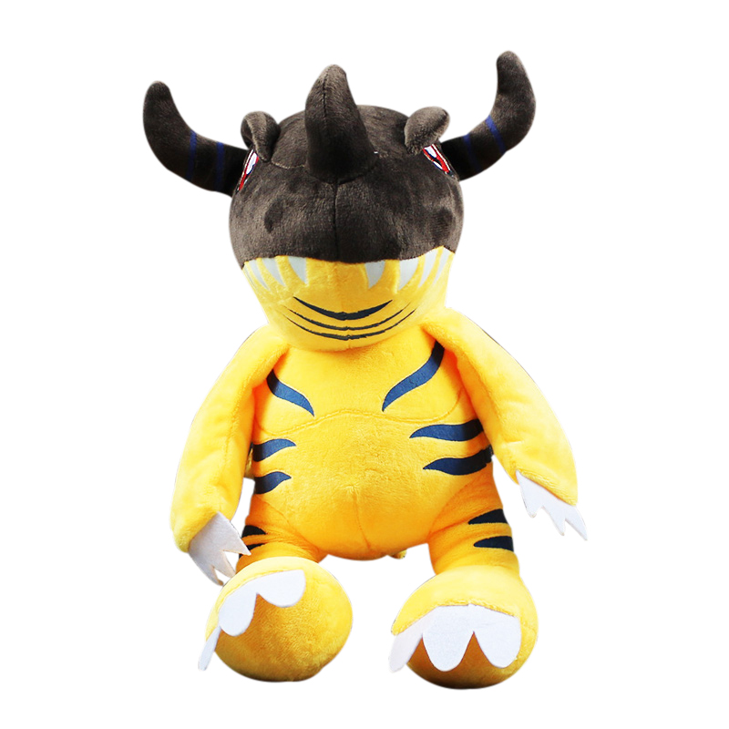 1pcs 32cm Cartoon Anime Digimon Adventure Greymon Soft Stuffed Plush Toys Doll For Children's Gift