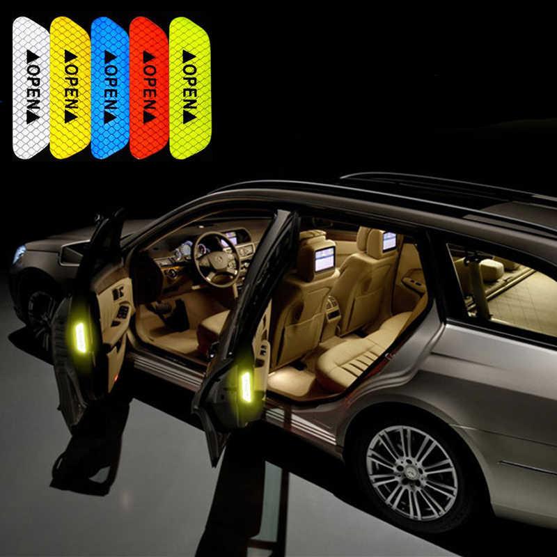 Araba Styling Fiat 500 için Suzuki Grand Vitara Swift SX4 Mitsubishi ASX Audi A 4 yansıtıcı kapı açık çıkartmalar aksesuarları