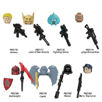 5cm Fortnites Game Building Blocks Anime Figure Weapon Head Fitting Building Block Toys Children Collection Ornament Decoration 1
