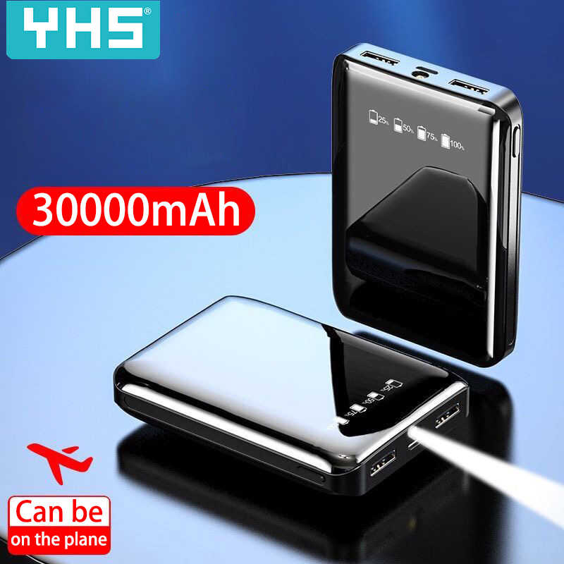 30000mAh Power Bank Dual USB Mobile Phone External Battery Fast Charge For iphone 7 11 xiaomi mi Portable Charger mini PowerBank