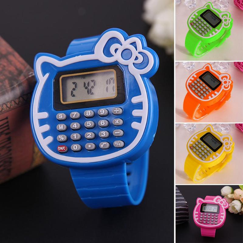 Educational Math Toy Children Silicone Date Multi-function Kids Calculator Wrist Watch Children Toys Learning Education Toy