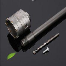 Promoción de 1 set 90mm * M22mm TCT martillo eléctrico Sierra de pared con 1 Uds SDS-plus barras de extensión 1pc broca central