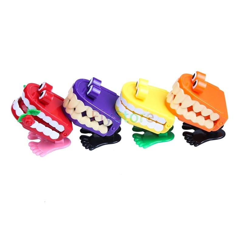 4pcs Cute Spring Clockwork Jumping Teeth Dental Children's Toys Creative Plastic Jumping Toys
