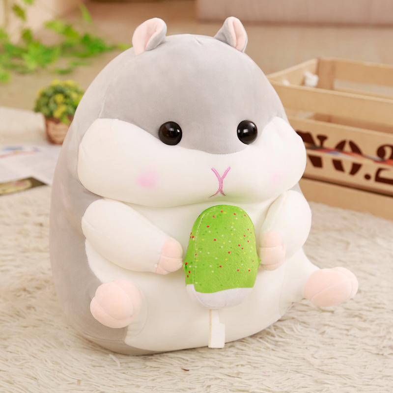 Plush Hamster Stuffed Toy Soft Stuffed Plush Pillow Cushion Cute Kwaii Plush Hamster Stuffed Kids Doll Birthday Gift For Baby