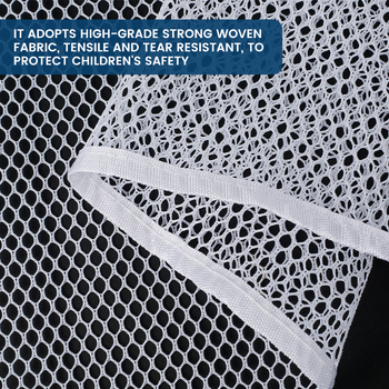300x77cm Baby Fence Kids Safety Mesh Indoor Outdoor Rail Balcony Home Decor Fall Protection Kids Stairs Safety Net Thick Mesh 4