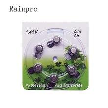 Rainpro 60 pçs/lote (10 papelão) A13 PR48 Zinco 1.45V Ar para Aparelhos Auditivos Baterias de célula tipo moeda