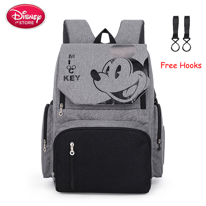 Disney Diaper Bags Backpack Minnie Mickey Mouse Mummy Bag Stroller Capacity Travel Feeding Handbag For Baby Care Disney Mom Bag